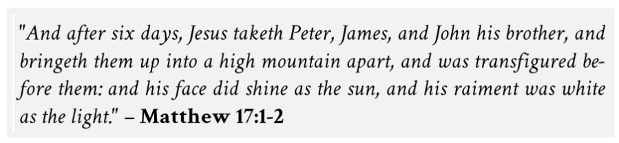 Transfiguration 02